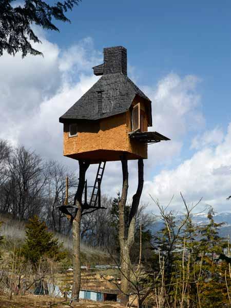 Необычный чайный домик на дереве