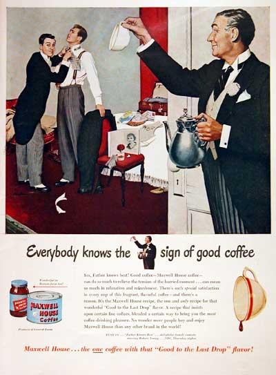 Maxwell House Coffee - старый постер