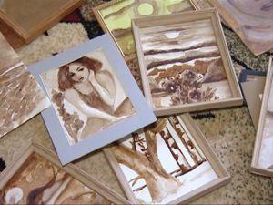 Картины из кофе и шоколада