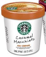 Starbucks мороженое (карамель с мачиято)