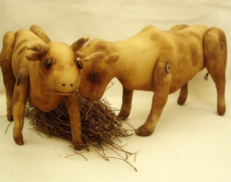Авторские игрушки - корова и бык с ароматом кофе