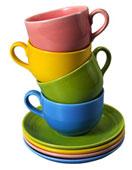 Разноцветные чашки