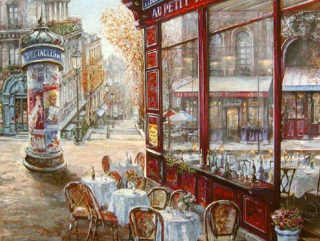 Le Bistro Du Paris Vadik Suljakov - художник Вадим Суляков