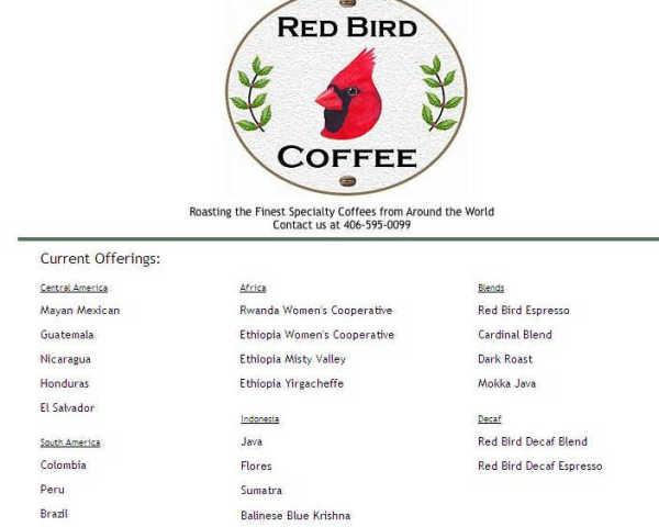 Red Bird Coffee официальный сайт торговой марки кофе