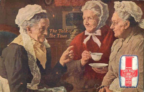 Бабушки пьет кофе - старая реклама Red Bird Coffee