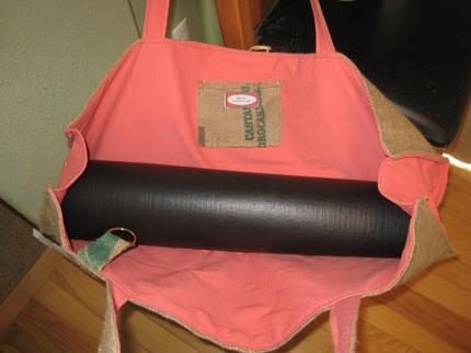 Сумки для коврика для занятий йогой из мешков кофе