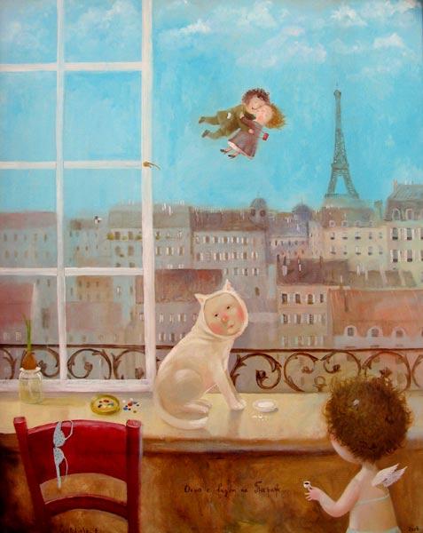 Окно с видом на Париж - автор Евгения Гапчинская
