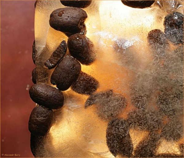Лед с кофейными зернами
