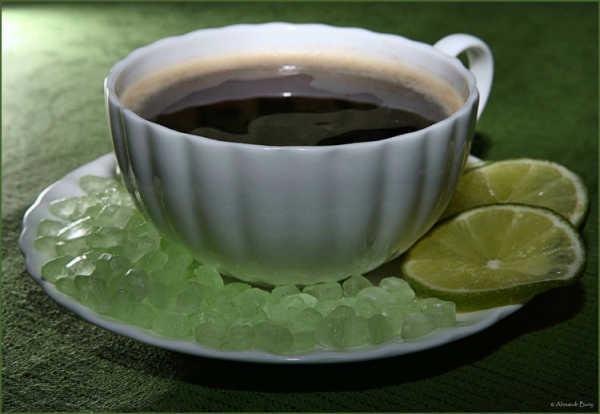 кофе с лаймом и мятным сахаром