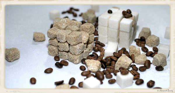 Кубик Рубик из сахара и кофе