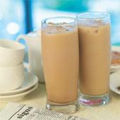 газированное молоко с кофе