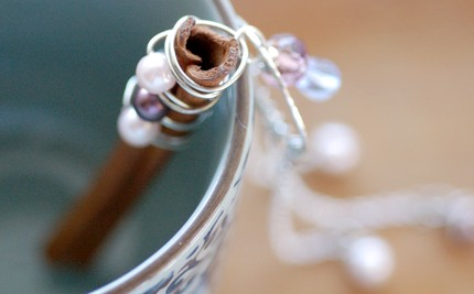 Ювелирное серебряное украшение для корицы