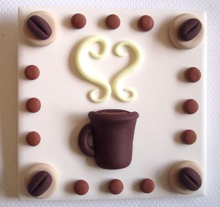 Керамическая плитка ручной работы с кофейным дизайном для кухни