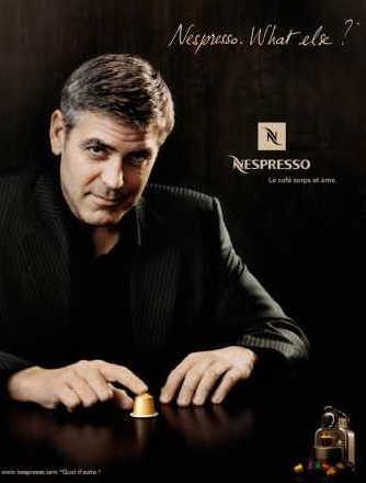 Джордж Клуни и постер nespresso капсулы