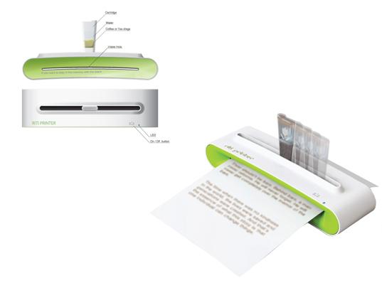 Экономичный принтер с чернилами из кофе или чая