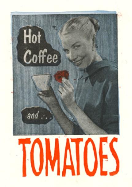 Рекламный кофейный постер для фестиваля помидоров