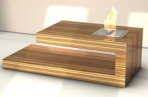 Необычный кофейный столик с камином