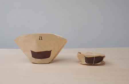 Кофейный фильтр для изготовления пепельницы из гущи