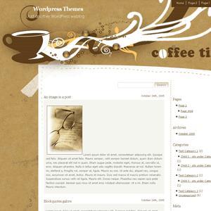 Тема кофе в шаблоне wordpress