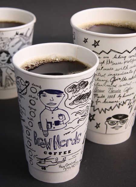Дизайн одноразовых стаканчиков для кофейни