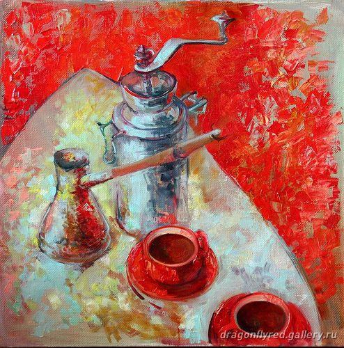 Натюрморт с кофе - художник Лариса Зотенко