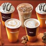 Все кофейные напитки в mccafe Макдональдс
