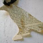 """Закладка для книги с пятнами кофе в стиле стихотворения Эдгара По """"Ворон"""""""