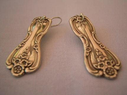 Свадебные необычные серьги из ложек