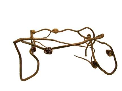 Кованые ножки в виде сосновых веток для ножек кофейного столика