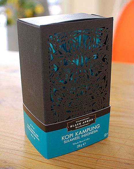 Лазерная резка картона на упаковке для кофе