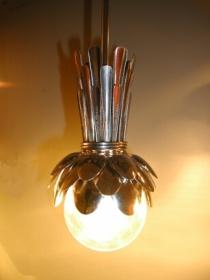Дизайнерская лампа для ресторана и кафе из кофейных ложек