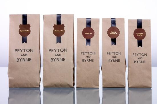 Упаковки кофе от peyton and byrne