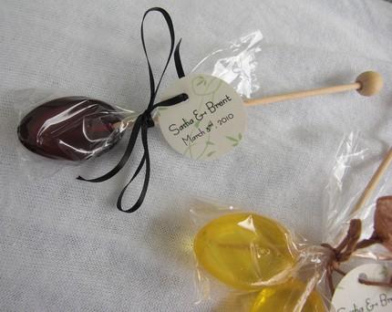 Съедобные ложки из шоколада и мёда с лимоном