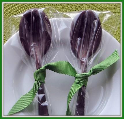 Подарок ложки в шоколаде