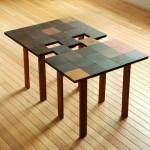 Столик для кофе в виде паззла