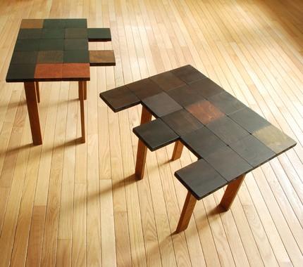 Стол паззл в разложенном состоянии