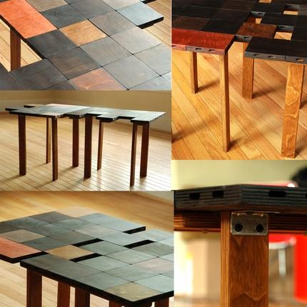 Кофейный столик-паззл в разных вариациях