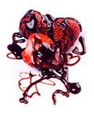 Шоколадно-ягодный топинг на клубнике