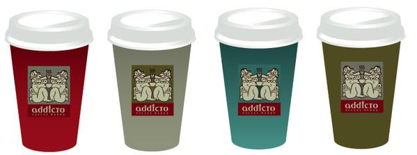 Дизайн одноразовых стаканчиков для кофе