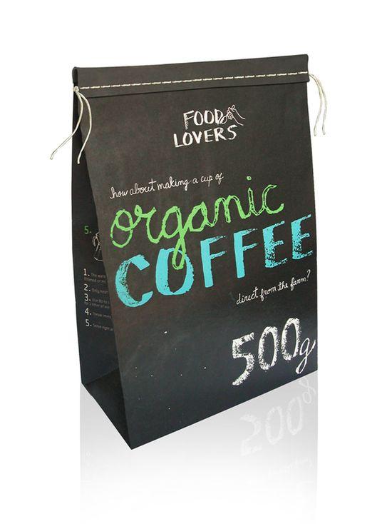 Дизайн упаковки органического кофе