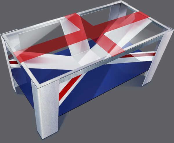 Эскиз дизайна стола в стиле британского флага