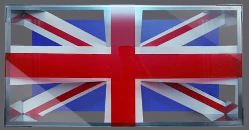 """Кофейный столик """"Флаг Великобритании"""", эскиз дизайна, вид сверху"""