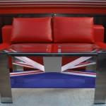 Дизайн кофейного столика в виде флага Великобритании