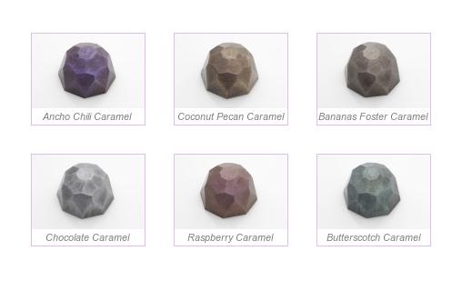 Шоколадные конфеты в виде драгоценных камней
