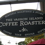 Вывеска музея кофе в Сиэтле