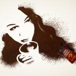 Рисунок из растворимого кофе