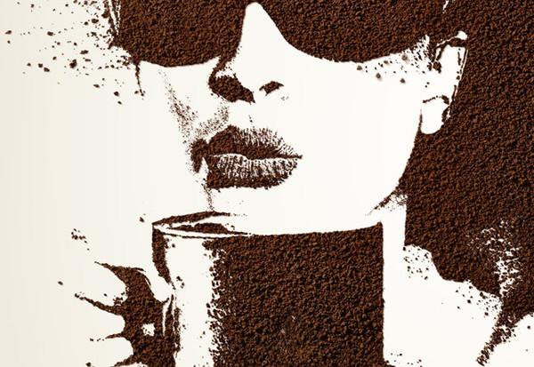 Рисунок на растворимом кофе