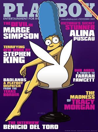 Мардж Симпсон на обложке журнала Playboy