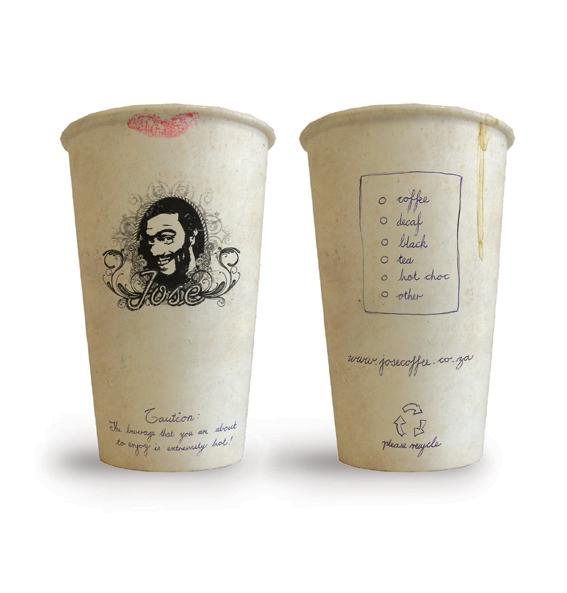 Одноразовые стаканчики, дизайн для кофейни Хосе