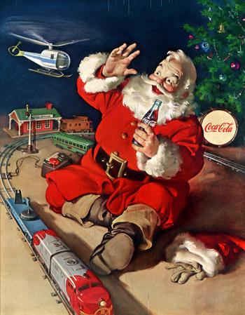 Новогодние открытки с санта клаусом